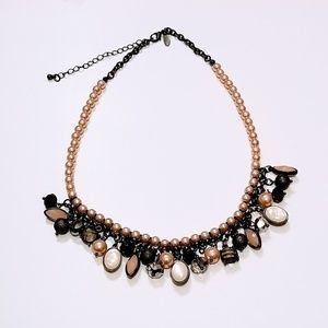 Pink Pearl Multi-colored Statement Necklace